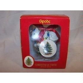 Spode Christmas Tree Signature Ornament 2003 Kitten, Gift Box/Lights