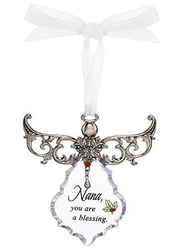 Nana, You are a Blessing Clear Angel Gown Christmas Tree Ornament – By Ganz