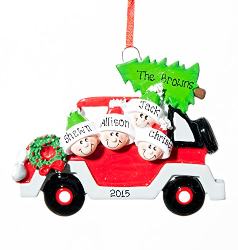 Personalized Christmas Ornament – 4 Christmas Tree Caravan – Free Names Added, Shipped Next Day