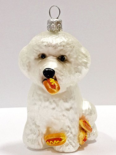 Ornaments to Remember: BICHON FRISHE PUPPY (Hot Dogs) Christmas Ornament