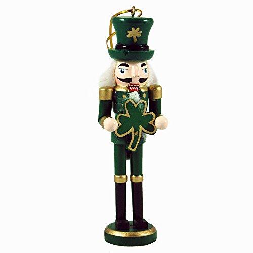 Hand-Painted Irish Themed Nutcracker Hangign Ornament