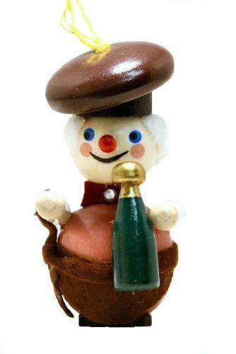 2013 Steinbach Sommelier Wine Steward German Wooden Christmas Ornament