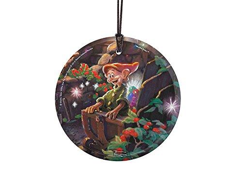 Thomas Kinkade Studios (Snow White's Dopey) StarFire Hanging Glass Print