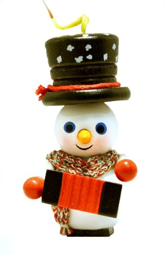 2013 Steinbach Accordion Player Snowman German Wooden Christmas Ornament