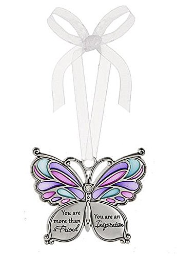 Ganz Butterfly Wishes Colored Ornament – You are more than a Friend You are an Inspiration