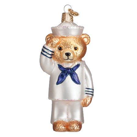 Old World Christmas Navy Bear Ornament