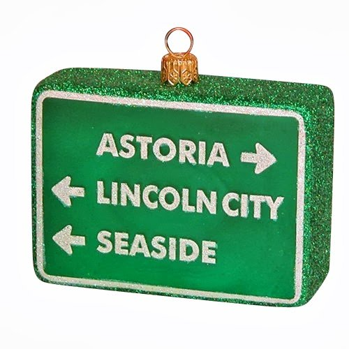 Ornaments to Remember: OREGON BEACHES Christmas Ornament