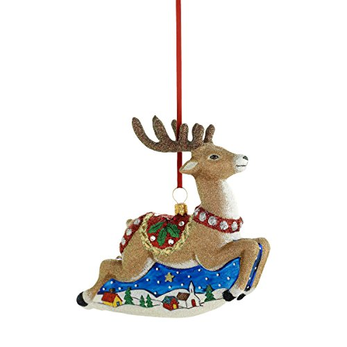 Reed & Barton C4417 Classic Christmas Reindeer Ornament