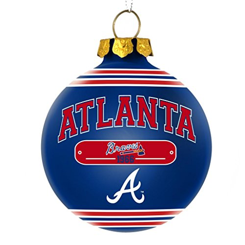 Atlanta Braves Official MLB 2014 Year Plaque Ball Ornament by Forever Collectibles