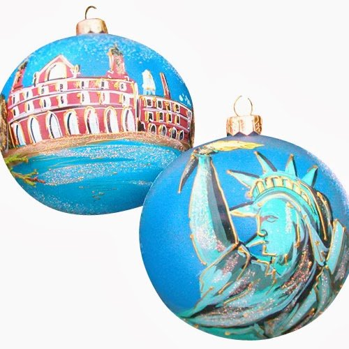 Ornaments To Remember Statue of Liberty (Ellis Island) Hand-Blown Glass Ornament
