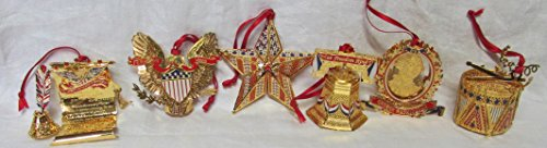 The Danbury Mint American Spirit Gold Ornament Collection