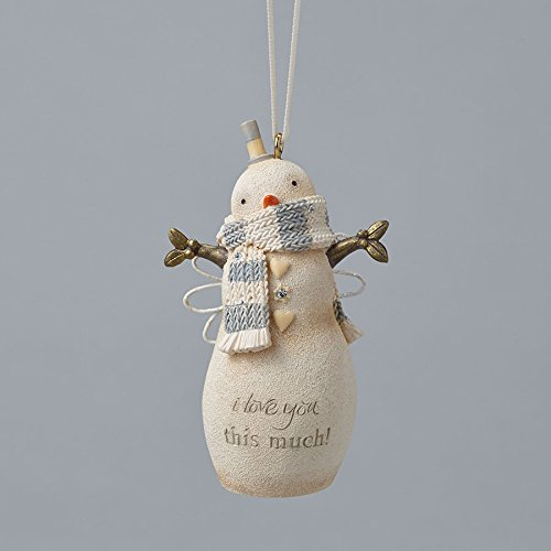 Enesco Foundations Love You Snowman Ornament 2.99 IN