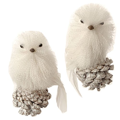 RAZ Imports – 4″ Bird Ornaments – Set of 2