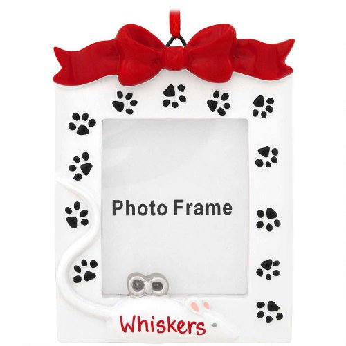 Cat Frame Personalized Christmas Tree Ornament