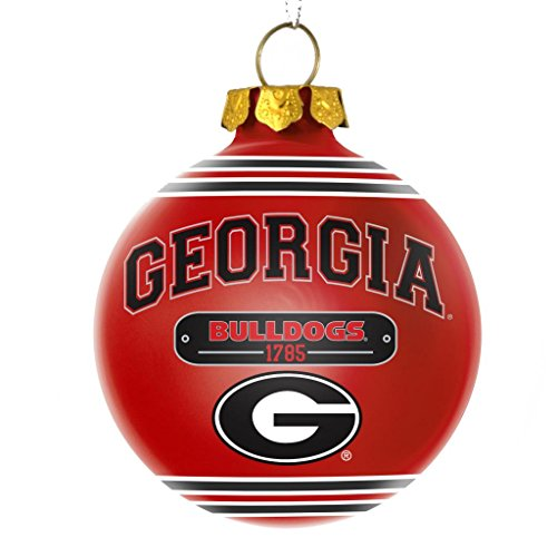 Georgia Bulldogs Official NCAA 2014 Year Plaque Ball Ornament by Forever Collectibles