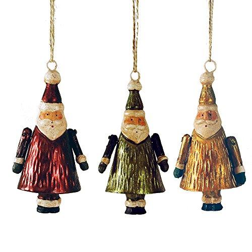 Tinsel Town Retro Santa Ornaments Set of 3