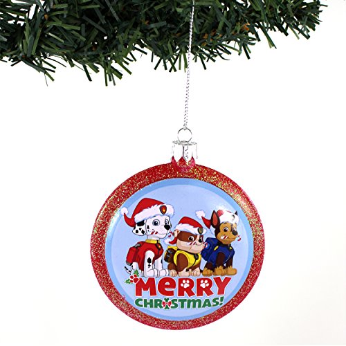 Paw Patrol Kurt Adler Disc Ornament Gift Boxed (Merry Christmas!)