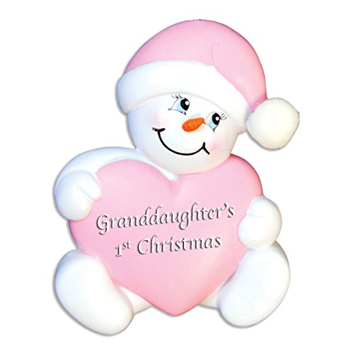 GRANDDAUGHTER'S BABY'S GIRL'S FIRST CHRISTMAS PERSONALIZE CHRISTMAS TREE ORNAMENT