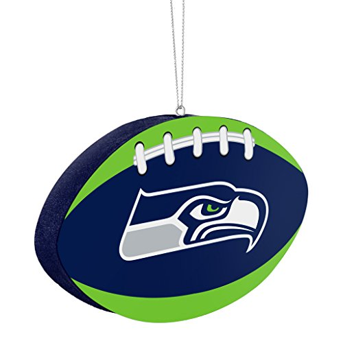Seattle Seahawks Official NFL 4 inch Foam Christmas Ball Ornament by Forever Collectibles 241589