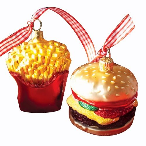 Ornaments to Remember: BURGER AND FRIES Christmas Ornament
