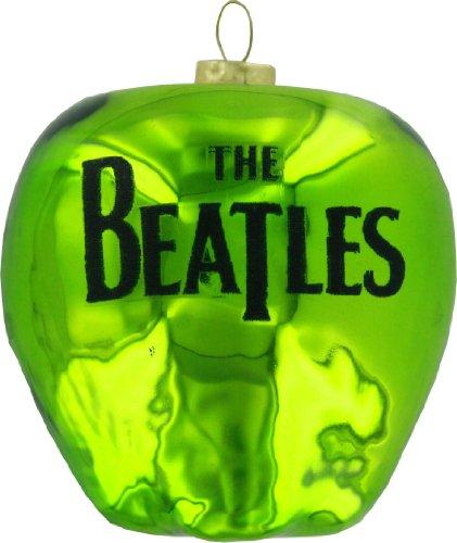 The Beatles Kurt Adler Green Apple Glass Ornament, 3.5-Inch