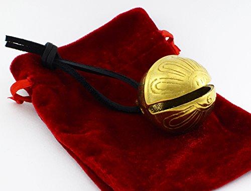 Gold Christmas Polar Sleigh Bell, Reindeer Jingle Express From Santa's Sleigh Bells