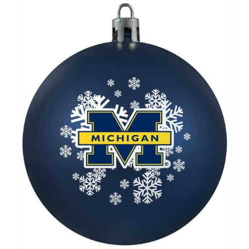 NCAA Michigan Wolverines Shatterproof Ball Ornament