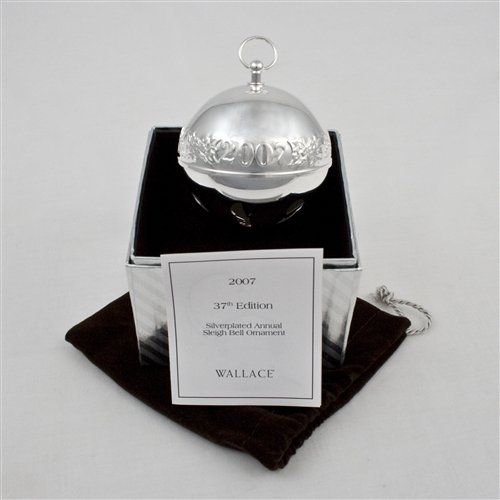 2007 Sleigh Bell Silverplate Ornament by Wallace