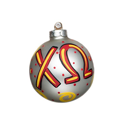 Glory Haus Chi Omega Glass Ornament, 4-Inch