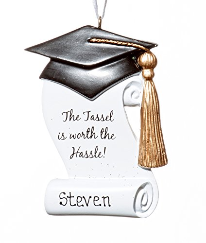 Graduate Tassel Hat Christmas Holiday Ornament-Free Name Personalized-Shipped In One Day