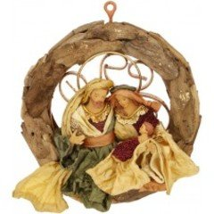 Mark Roberts Holy Family Wreath Ornament 7.5″
