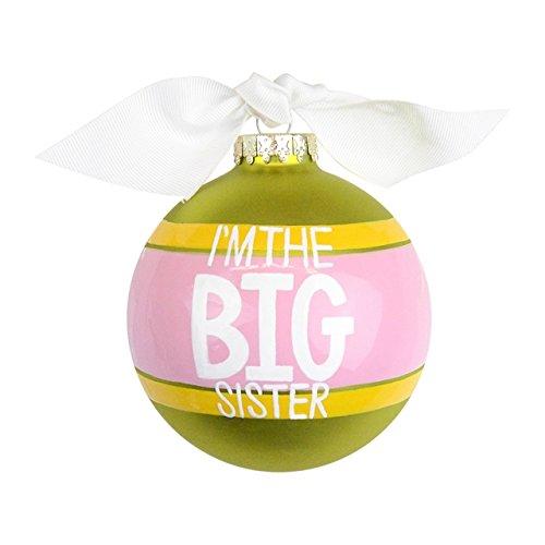 I'm the Big Sister Striped Glass Ornament