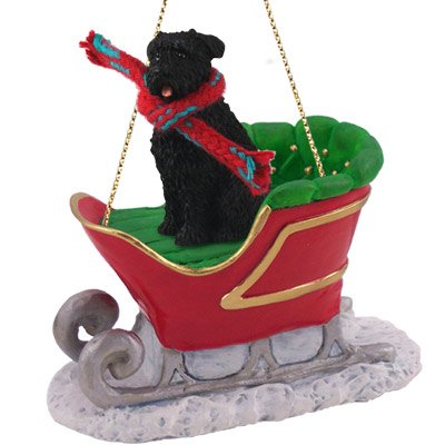 Bouvier des Flandres Sleigh Ride Ornament