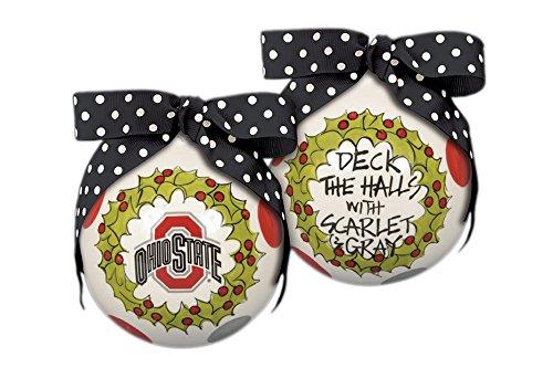 "Ohio State ""Deck The Halls"" Hanging Christmas Tree Ornament"