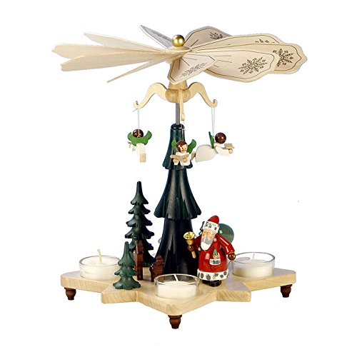 "33-303 – Christian Ulbricht Pyramid – Santa with Angels – 10.5″""H x 10″""W x 10″""D"