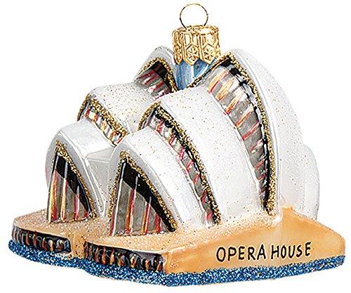 Sydney Opera House Australia Mini Polish Mouth Blown Glass Christmas Ornament