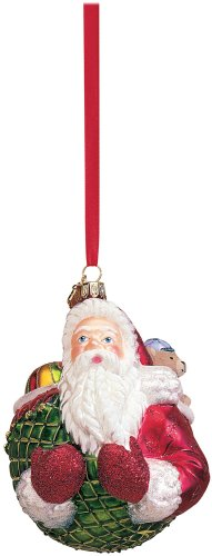 Reed & Barton Christmas Reflections Santa with Toys Ornament