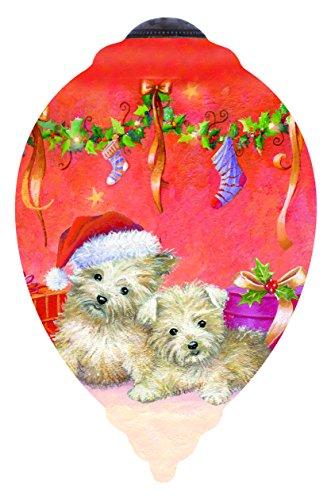Ne'Qwa Puppies Waiting for Santa Ornament