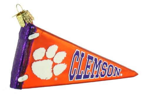 Old World Christmas Clemson University Pennant Ornament
