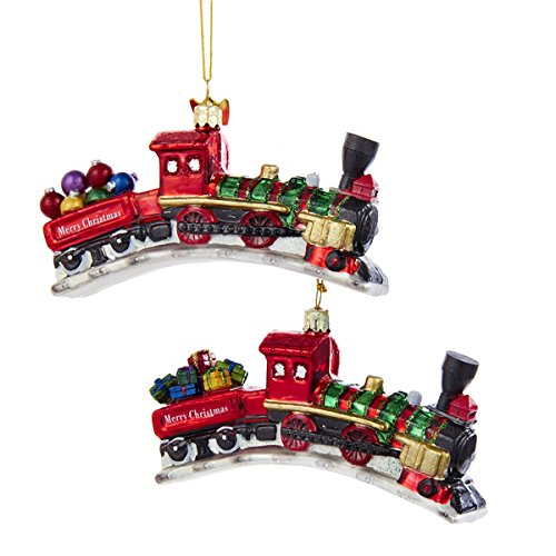 Kurt Adler 4.5″ Noble Gems Toy Train Ornament 2