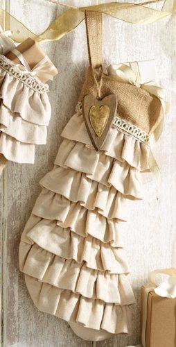 Mud Pie Ornament Stockings (Ruffle)