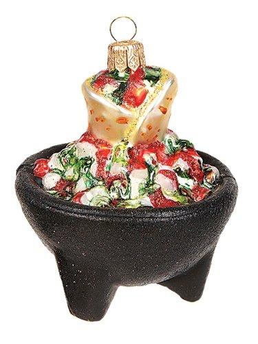 Salsa Bowl with Tortillas Polish Glass Christmas Ornament