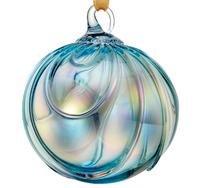 December Birthday – Hand Blown Glass Ornament – Topaz