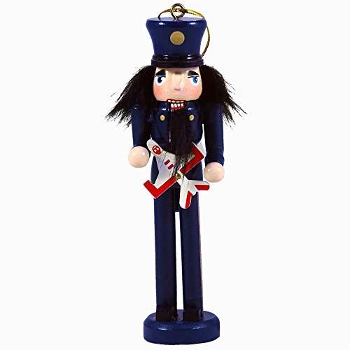 Wooden Air Force Themed Nutcracker Hanging Ornament