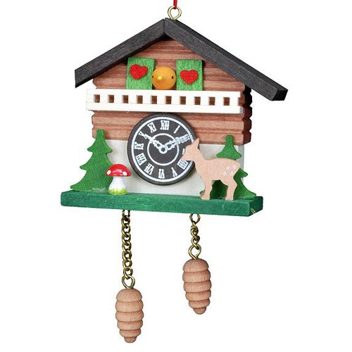 Christian Ulbricht Chalet Cuckoo Clock Christmas Ornament