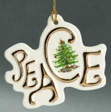 "Spode Christmas Tree Ornament ""Peace"""
