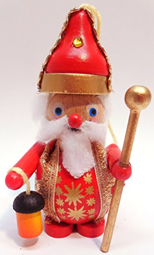 Steinbach Handmade Christmas Ornament Collectible Wooden Ceremonial Santa Claus 4 Inches Tall