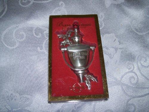 LENOX 2000 Bless This House Door Knocker Pewter Ornament