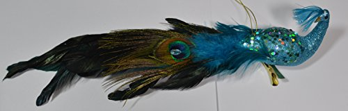 Peacock Bird Christmas Ornament (small blie bird)