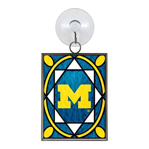 Michigan Wolverines 2 x 3 Stained Glass Christmas Ornament Michigan Topperscot